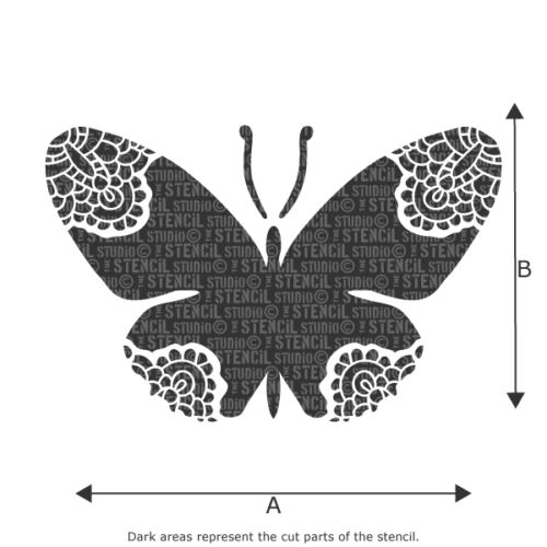 Arts /& Crafts  10322 Lacewing Butterfly Stencil for Decorating girls bedroom
