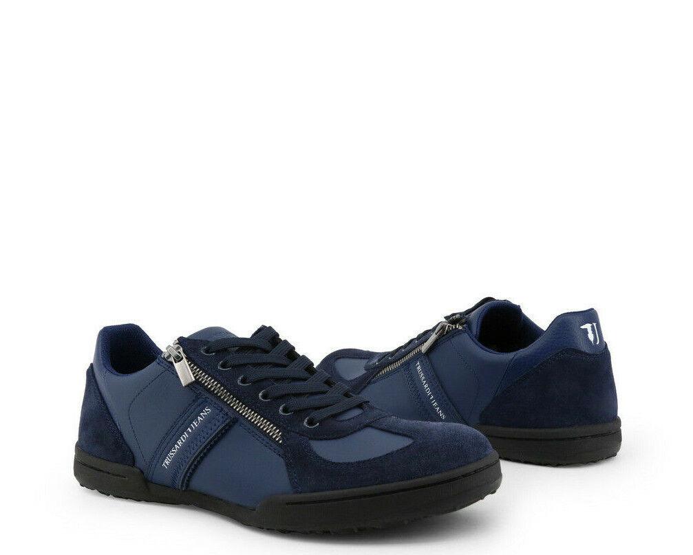 Trussardi Mens scarpe da  ginnastica - 7A00093 - Leather w  Suede Details  negozio di sconto