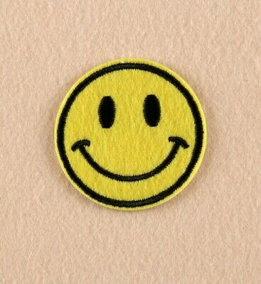 Large Yellow Smiley Face Emoji//Emoticon Iron on Applique//Embroidered Patch 403