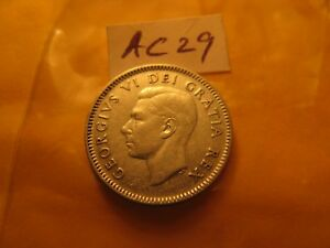 Canada-Key-Date-1948-Ten-Cent-Rare-Silver-Coin-ID-AC29