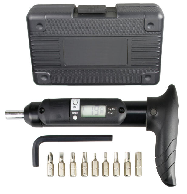 IceToolz Ocarina Bike L-Handle 3-10Nm Torque Wrench w// 5 bits hex and T25