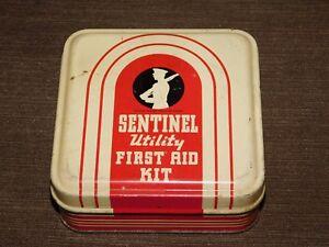 VINTAGE-MEDICINE-SENTINEL-UTILITY-FIRST-AID-KIT-METAL-BOX