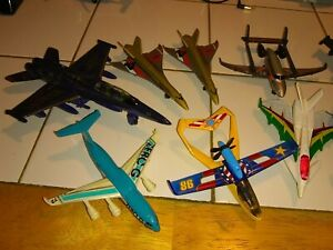 Lot-Of-13-Matchbox-Aircraft-Some-Die-Cast-Metal-and-Plastic