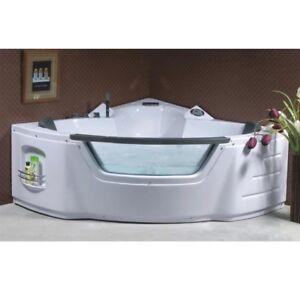 Vasca idromassaggio 135x135 doppia da bagno vasche full optional cromoterapia dv ebay - Vasca da bagno doppia ...