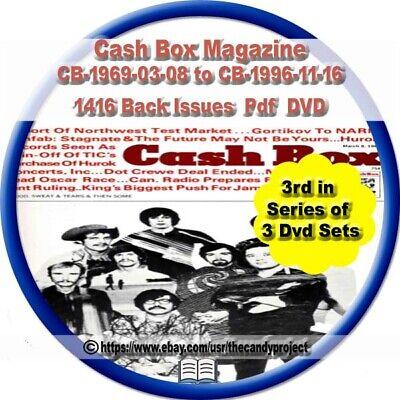 1413 Cash Box Magazines Trade Music Celebrities Vintage Defunct PDF 3 DVDs  #3 | eBay
