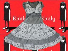 185✪ Gothic Spitze Hängerchen Kleid Lolita Emily Volants Country Style Gr. M