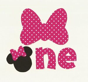 Minnie Mouse 1st Birthday Iron On Fabric Applique eBay