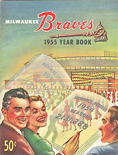 1955--MILWAUKEE BRAVES (AARON, MATHEWS, SPAHN--YEAR BOOK--NMT