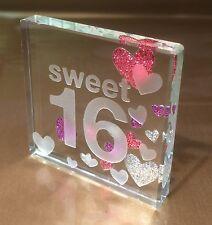 Happy 16th Birthday Gift Ideas Spaceform Sweet Sixteen Glass Token Keepsake 1495