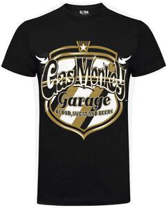 Official Gas Monkey Garage Mens Custom Garage Wings T-Shirt GMG