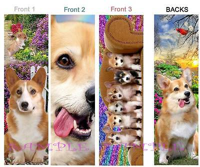 3 Lot-SHIH TZU BOOKMARK FUN Dog Tan Brown Black White Puppies ART Book Mark Card