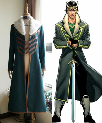 Agent of Asgard Cosplay Hot! Loki Loki Coat Costume NN.2898
