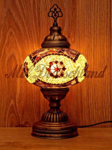 Boho Deko Orientalisch Tischlampe Stehlampe Mosaik  /%100 Handgefertigte Garten