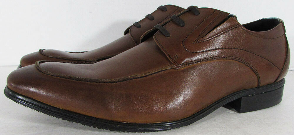Kenneth Cole Reaction Mens Western Sky Leather Apron Toe Oxford Shoes, Tan,