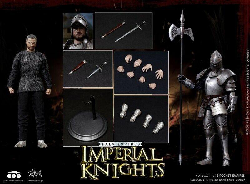 Imperio COOMODEL PE010 1 12 Pocket Juguetes Figura Soldado Caballero Imperial Mini Regalos