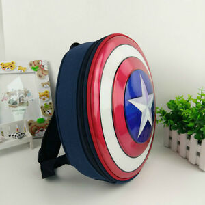 da1f58bfd3 Captain America Shield Backpack Marvel Avengers Superhero School Bag Kids  Bags
