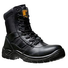 Mens  non Safety Combat Boot Police Army Military CADET Boots size 9/43