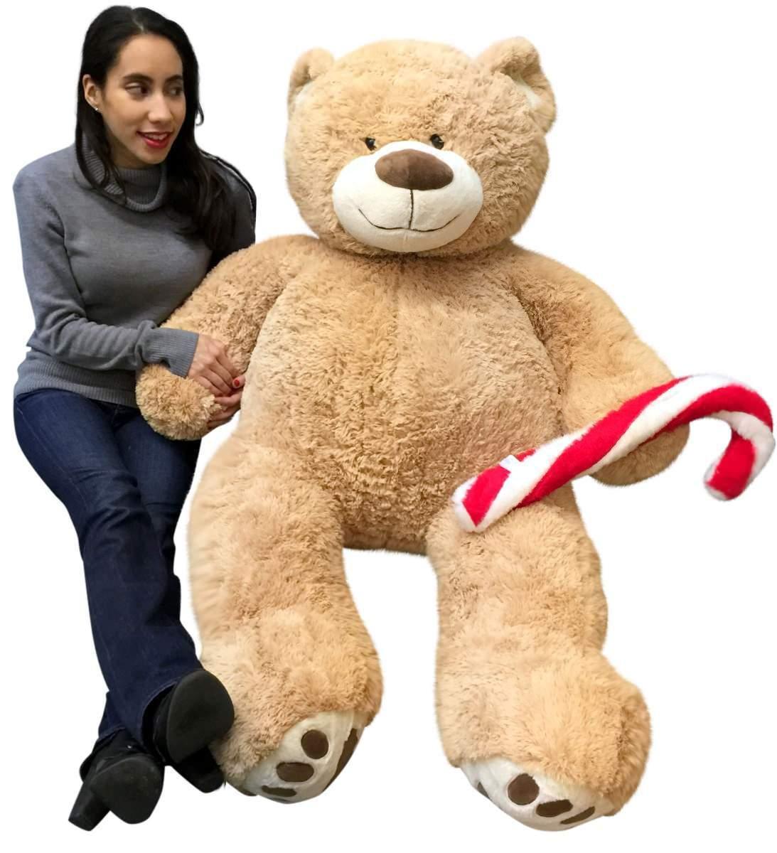 Weihnachten Big Plush Riesig Teddybär 1.5m Braun Weich Betrieb Plüsch Candy Cane