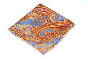 Lord-R-Colton-Masterworks-Pocket-Square-Sahara-Fire-Woven-Silk-75-New