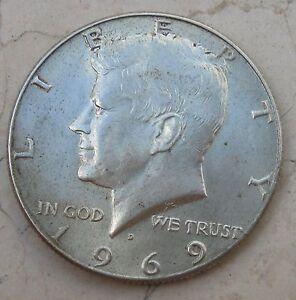 1-2-Dollaro1969-Stati-uniti-d-039-America-moneta-in-Argento-n-1033