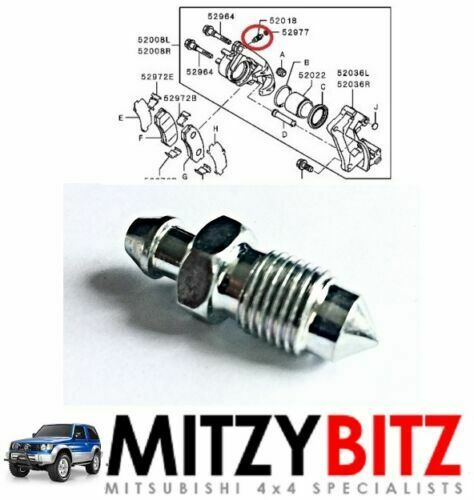 M10 BRAKE CALIPER BLEED SCREW MITSUBISHI L200 K24T 2.5TD 86-01