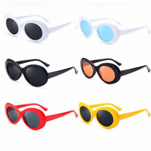 Retro-Clout-Goggles-Unisex-Sunglasses-Rapper-Oval-Shades-Grunge-Glasses