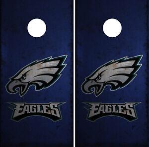 Philadelphia Eagles Cornhole Wrap NFL Skin Game Board Set Vinyl ...