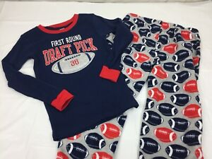 49860d32bdc4 Carter s Boys 2 piece Fleece Pajama Set - Football - Size 5 - New ...