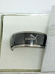 Details about Puma Stainless Steel Spinner Ring Size 12, W/Gift Box!