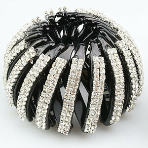 Womens-Crystal-Hair-Jaw-Claw-Clip-Barrette-Ponytail-Holders-Hair-Accessories