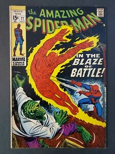 AMAZING-SPIDER-MAN-77-6-0-FN-UNPRESSED-MARVEL-SILVER-COMIC