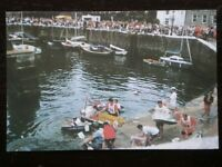 POSTCARD B31-17 ISLE OF MAN CASTLETOWN - TIN BATH RACES