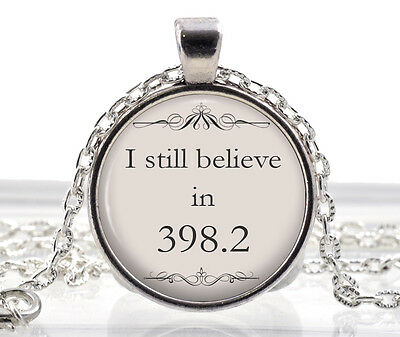 Fairytale Wedding Quote Jewelry - Librarian Necklace Pendant Gift for Women Girl