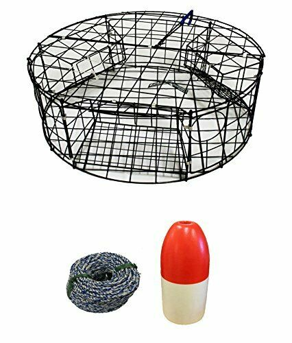 KUFA Vinyl Coated Round Crab Trap,14  NonLead Sinking Line 11 Float Combo