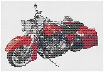 Norton Commando Bike Cross Stitch Kit by Florashell