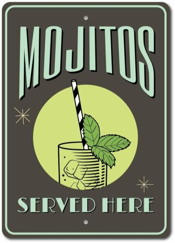 Mojitos Decor Mojito Lover Gift Aluminum Sign ENSA1003409 Mojitos Sign
