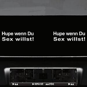2-Piece-Horn-if-You-Sex-Willst-22cm-White-Car-Tattoo-Sticker-Decor-Film