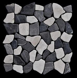 1 Matte Marmor Grau Weiss M 006 Bruchstein Mosaik Naturstein