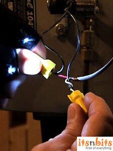 LED Light Fingerless Glove Tool DIY Electrician Plumber Mechanic Gift Him UK