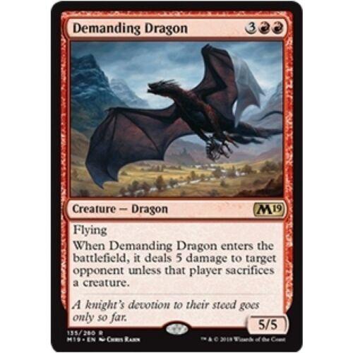 Dragon Rare DEMANDING DRAGON NM mtg Core 2019 M19 Red