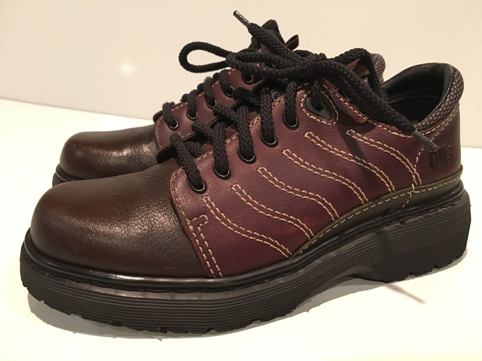 Dr. Martens Air Cushioned Sole Leather Oxfords shoes Size Men's 7 Wo's 8