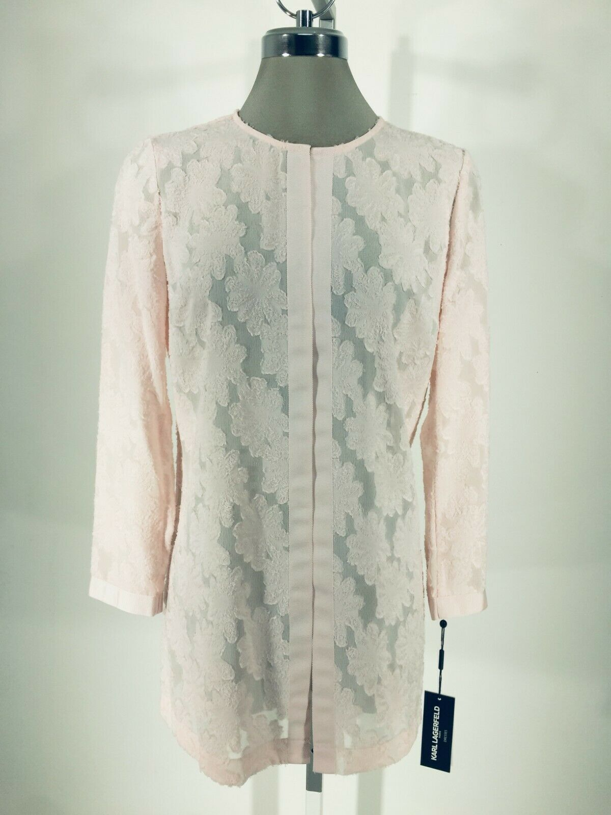 Karl Lagerfeld Paris Neu Elegant Rosa Kimono Jacke Blause XS