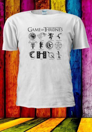 Game of Thrones House Stark Targaryen Lannister Hommes Femmes Unisexe T-shirt 2876