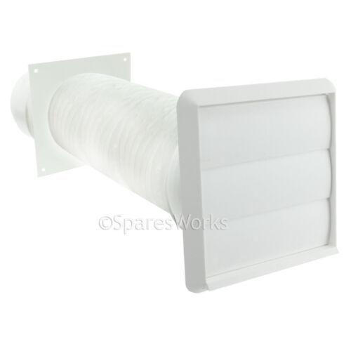 """Ventilation Kit Pour AEG Sèche-linge Externe Ventilation Prise murale 4/"""" 100 mm Blanc"""