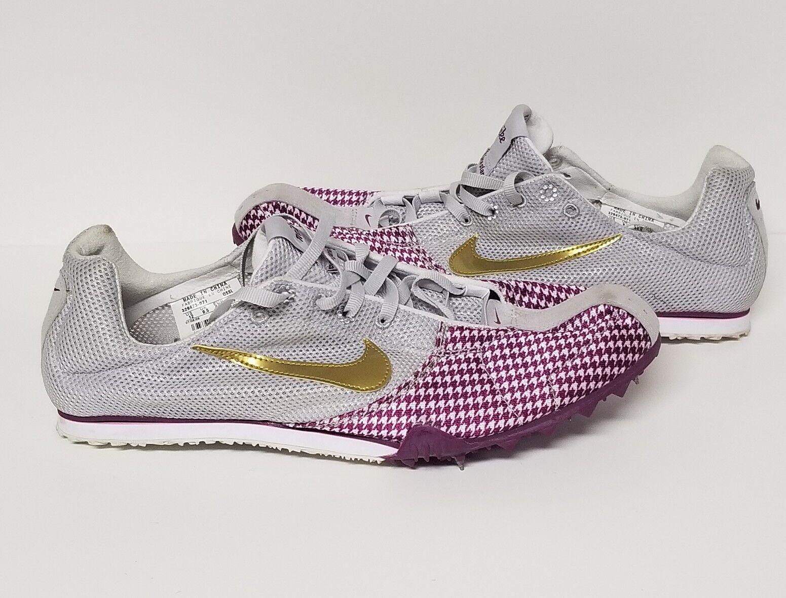 Nike zoom zoom zoom jana star spuntoni traccia delle scarpe da corsa bowerman taglia 12 grigio rosa viola | Prodotti di alta qualità  | Imballaggio elegante e robusto  | adottare  0894ed