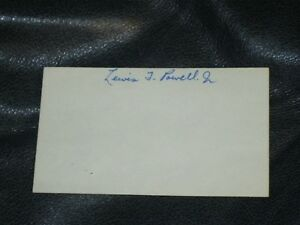 Lewis F. Powell Jr. Autographed Index Card
