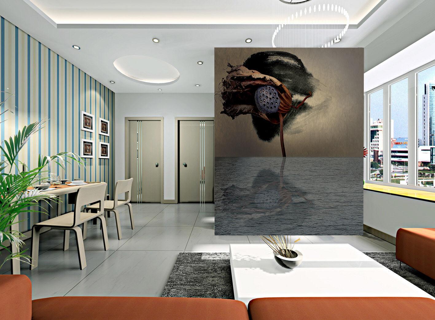 3D 3D 3D Herbst Lotus Frucht 85 Tapete Wandgemälde Tapete Tapeten Bild Familie DE | Attraktiv Und Langlebig  | Elegant und feierlich  |  53f06f