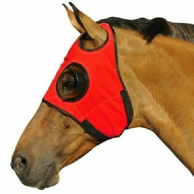 New Horse Riding Blinker Eye Fly Veil with Black cup Hood Horse Can/'t See Back