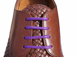 Mens-Coloured-Thin-Waxed-Shoelaces-70cm-or-95cm-For-4-5-6-eyelet-Shoes-9-Colours