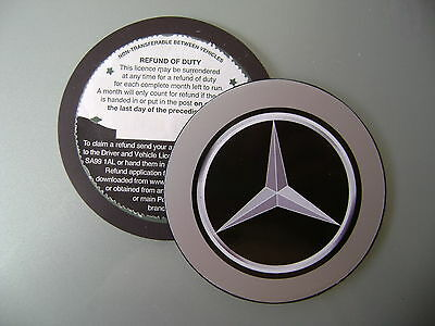 Magnetic Tax disc holder fits any mercedes ie coupe a b c e class c 220 slk 55